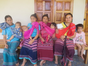 Four lovely ladies and 5 babies from GeGhah village, all needing medical attention.